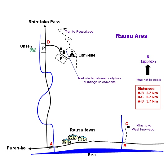 Rausu Area Map
