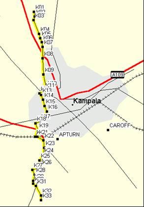 Kampala GPS Waypoints
