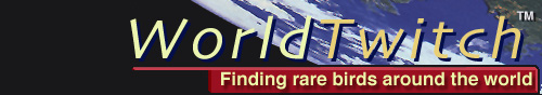WORLDTWITCH.com Home Page - Finding Rare Birds Around the World [Logo by Michael O'Clery]